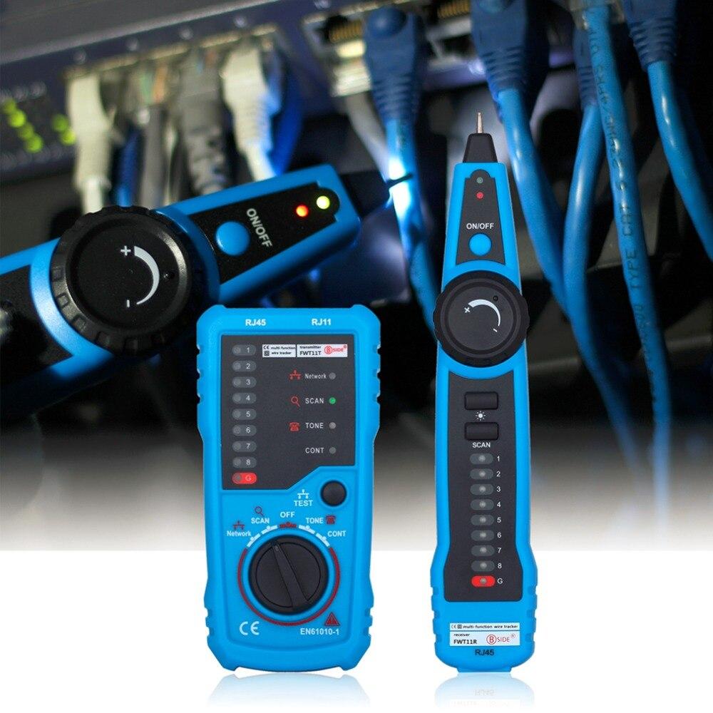 RJ45 Crimper comprobador LAN Ethernet Detector de línea de RJ11 Cat5 Cat6 LAN Cable de red de Cable de teléfono rastreador Lan de prueba
