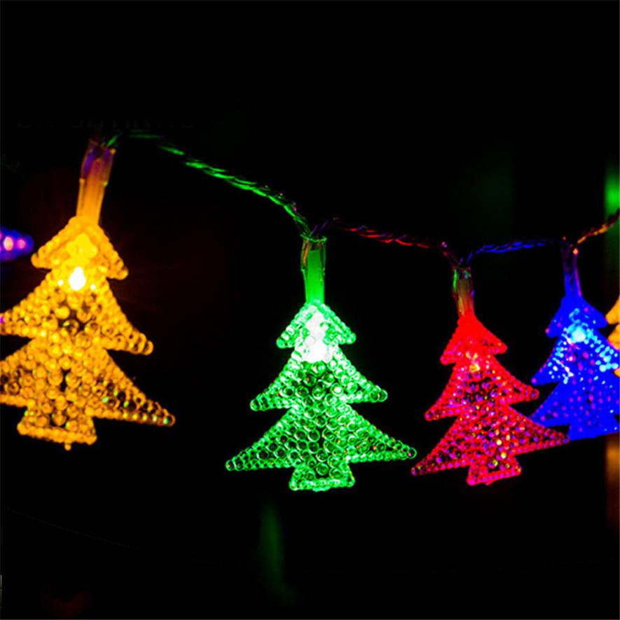 30 led christmas tree solar energy curtain lights string lamp wedding party christmas lamps icicle lights xmas garden decoration - Solar Halloween Decorations