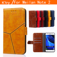K Try MEIZU M2 Note Case High Quality Wallet Style Flip Leather Case For MEIZU M2