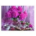 Flor de chá 50 x 38 cm de broca de diamante bordado diamante 3d ponto cruz de diamante moda de fotos de strass