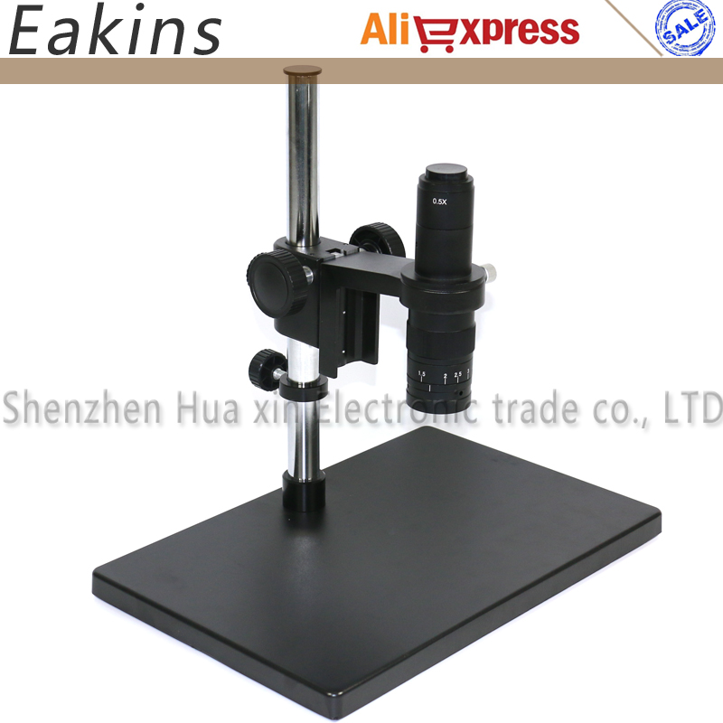 Big Size Heavy Duty Adjustable Boom Large Stereo Arm Table Stand 50mm Ring Holder+180X/300X Lens For Industry Microscope Camera factory direct sale industry microscope stand lcd digital microscope camera arm holder size 50mm