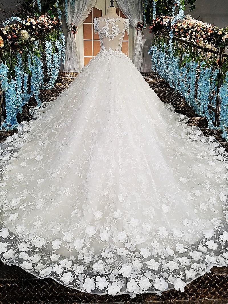 LS00174 Πολυτελές νυφικό για νυφικό beaded - Γαμήλια φορέματα - Φωτογραφία 3
