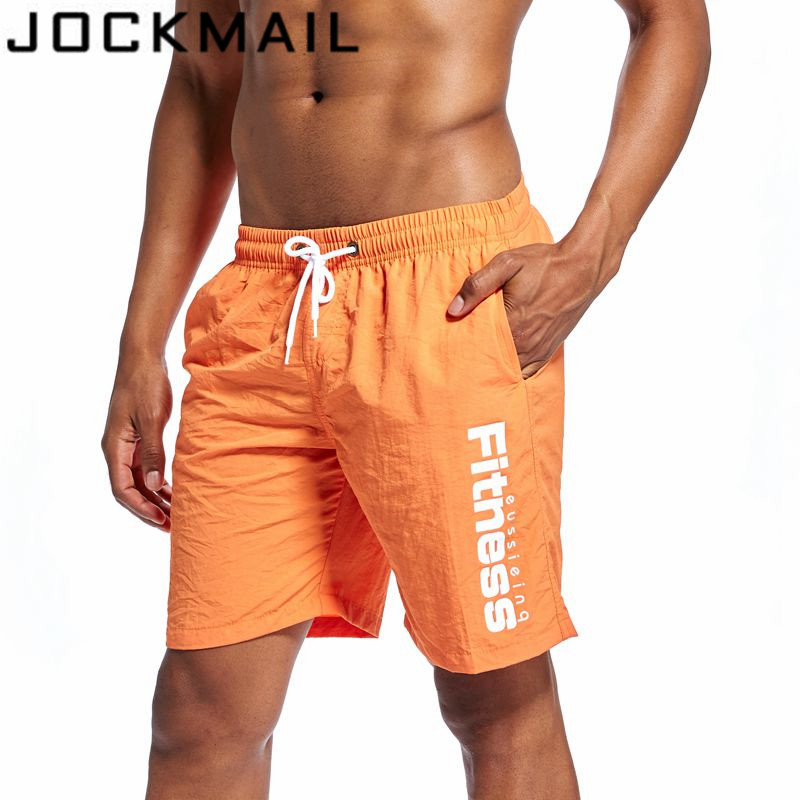 f96d4b192b JOCKMAIL Brand 2018 New Summer Quick Dry Mens Shorts Knee length Mens Board  Shorts Beach Short Male Short -in Board Shorts from Men's Clothing &  Accessories ...