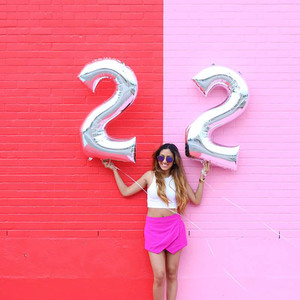 Image 5 - Ballons à feuille Happy 22 anniversaire 32 ou 40 pouces