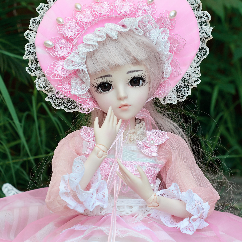 1/3 BJD Doll Full Set 24 inch Girl Toys 18 Ball Jointed SD Dolls With All Outfits Accessories Best Gift for Children Collection