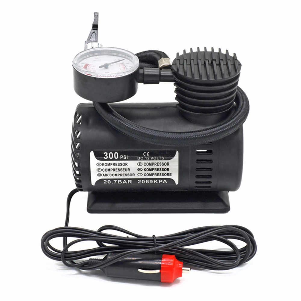 300PSI 12V Mini kompresor powietrza Auto samochód elektryczny opon pompka pompa 300PSI C300 12V Mini kompresor powietrza Auto samochód Y7