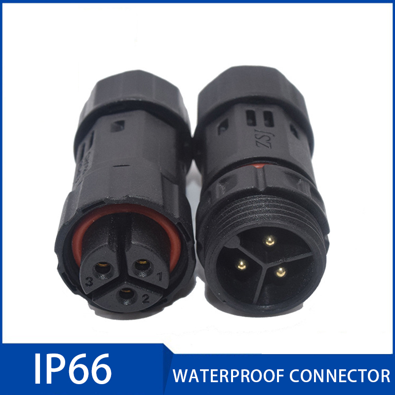 M19 Assembled Waterproof Electrical Cable Connector Plug Socket 2 3 4 5 6 7 8 9 10 Pin Ip66 Connectors For Security Equipment