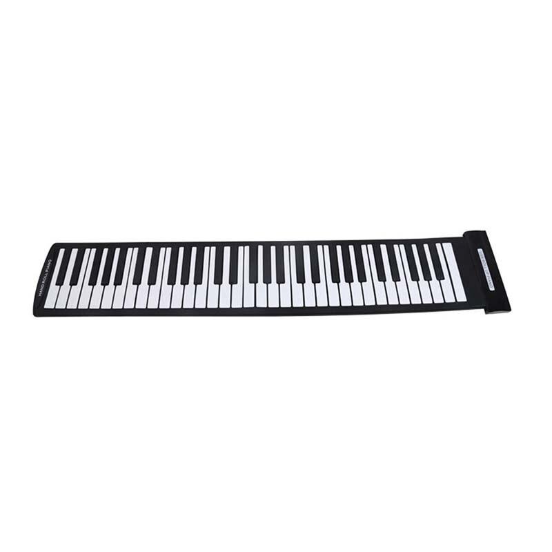 TOP!-Portable 61 Keys Flexible Roll-Up Piano USB MIDI Electronic Keyboard Hand Roll