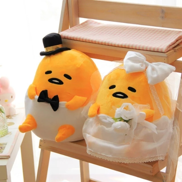 Candice guo plush toy gudetama lazy egg kawaii stuffed doll merry wedding dress lover couple birthday Christmas present gift 1pc candice guo plush toy stuffed doll cartoon gudetama lazy egg yolk car seat neck protect pillow cushion vehicle headrest 1pair
