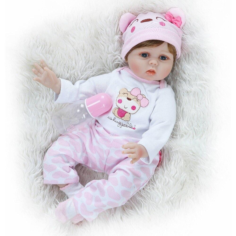 NPK Baby girl Dolls suave silicona Boneca Reborn Brinquedos Bonecas bebes reborn Día de los niños regalos juguetes cama tiempo-in Muñecas from Juguetes y pasatiempos    1
