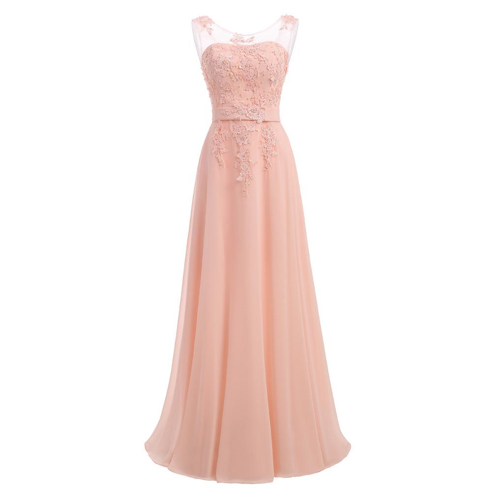 Floor-Length Chiffon Long Bridesmaid Dress Gown 2017 New Fashion Formal Bridesmaid Dresses 1