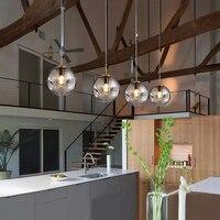 Işıklar ve Aydınlatma'ten Kolye ışıkları'de Post modern Led Cam Kolye Işıkları Aydınlatma Süspansiyon Hanglamp Başucu Oturma Odası Restoran Bar aydınlatma armatürleri Luminaria