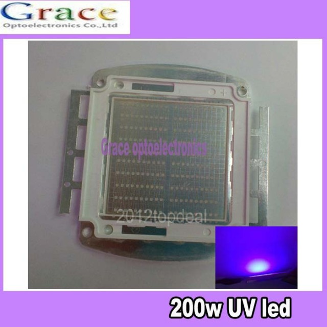 200W Ultra Voilet UV LED lamp light 395-400nm led 7000mA 30-36V by fedex dhl free shipping