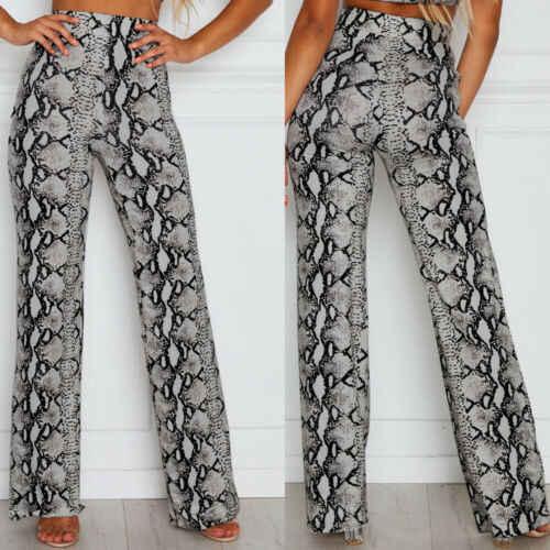 2019 femmes Baggy Harem pantalon taille haute Hippie large jambe gitane serpent motif peau Long été pantalon mode Street Wear