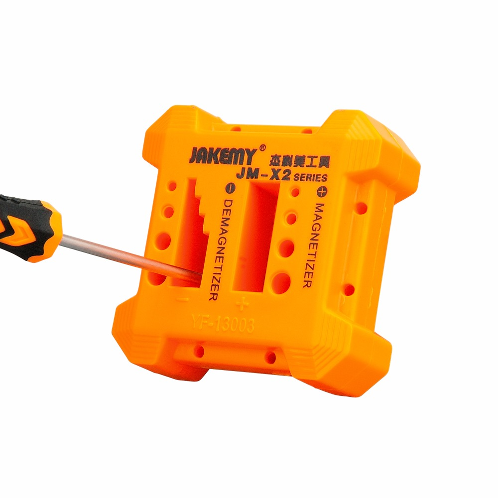 JAKEMY 1pc 2 in 1 Magnetizer Demagnetizer Screwdriver For Steel Screwdriver Blades Tweezers Hand Tools Magnetizing Device