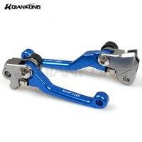Motorcycle CNC Aluminum Pivot Brake Clutch Levers Motorcross Short Brake Clutch Free Levers FOR KAWASAKI KLX150S