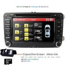 7»2Din автомобильный DVD плеер радио gps навигации для Volkswagen Golf, Volkswagen Polo Jetta Touran Mk5 Mk6 Passat B6 стерео Bluetooth SWC RDS зеркало-Link
