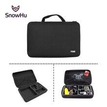 Go pro accessories kit Big size collection EVA Tripod Selfie stick Box for GoPro Hero 4 3 Sj40 Sj50 Xiaomi yi ction camera GP110
