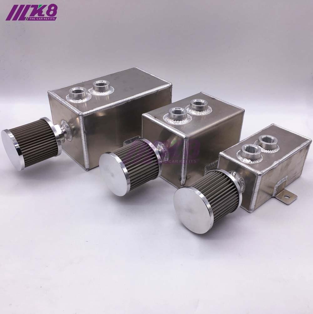 Réservoir de capture en aluminium avec filtre de réservoir de carburant de reniflard réservoir de carburant 1L