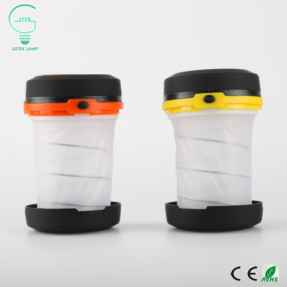 Waterproof Multifunction Retractable LED Outdoor Camping Light LED Flashlight Portable Lantern Mini Tent Light Emergency Lamp