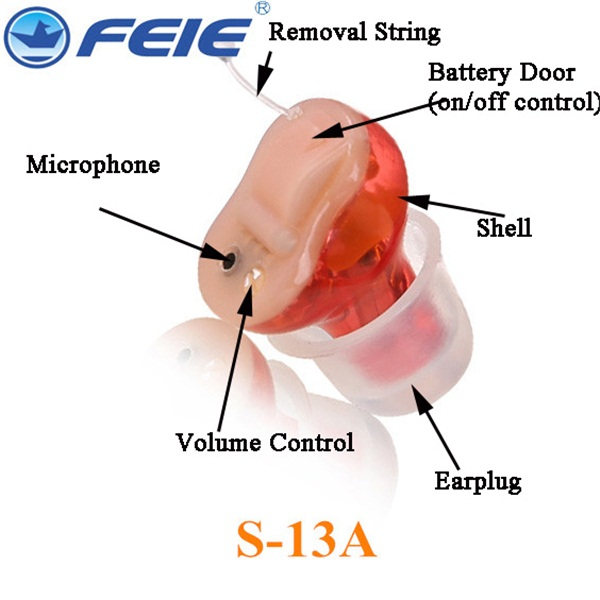 Deaf Hearing Device Inner Size Cheap Hearing Aid S-13A 4 Channel Ear Amplifier Programmable computer Drop Shipping inner ear hearing aid for deafs s 900a hottest mini listening device for elderly deaf personal amplifier free shipping