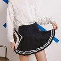 Bola de La alta Cintura Plisada Faldas Harajuku Mori Girls Raya Una Línea Falda Marinero Cosplay Uniforme Escolar Japonés