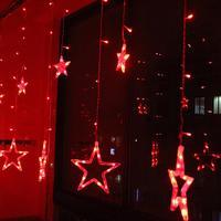2 5M Christmas Lights AC 220V EU Plug Romantic Fairy Star LED Curtain String Lighting For
