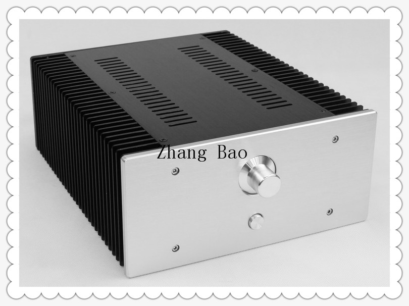 WA75 Aluminum Chassis Enclosure Box Case Shell for Audio Amplifier 312x262x120mm audio amplifier chassis shell case enclosure box aluminum 430x456x113mm wa43