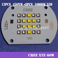 CREE XTE 60W 12 Royal Blue 450nm +8 white 10000K led for LED Aquarium