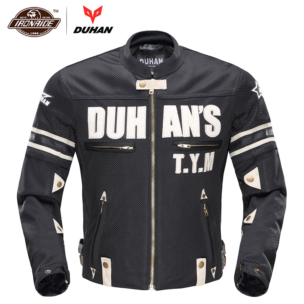 DUHAN Breathable Motorcycle Jacket Men Riding Jacket Moto Racing Jacket Mesh Jaqueta Motoqueiro Motorbike Protective GearDUHAN Breathable Motorcycle Jacket Men Riding Jacket Moto Racing Jacket Mesh Jaqueta Motoqueiro Motorbike Protective Gear