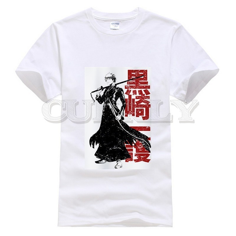 2019 new T shirt Kurosaki Ichigo bleach Leisure Japan Anime Cartoon Black And White Summer dress men tee clothing cos play Cozy in T Shirts from Men 39 s Clothing