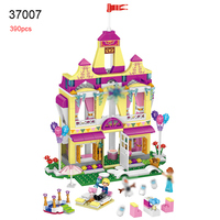 37007 Friends Princess Anna Ice Castle Building Blocks Educational Figure DIY Bricks Girls Toys For Children