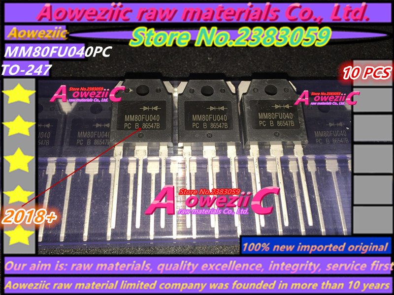 Aoweziic  2018+ 100% New Imported Original  MM80FU040PC MM80FU040 TO-247  Fast Recovery Diode 80A 400V