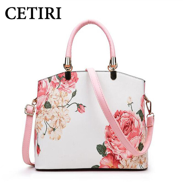 CETIRI Pink Rose Floral Bag Women Handbag Flower Bag High Quality Luxury  Handbags Women Bags Designer Famous Brands Tote Bolsas