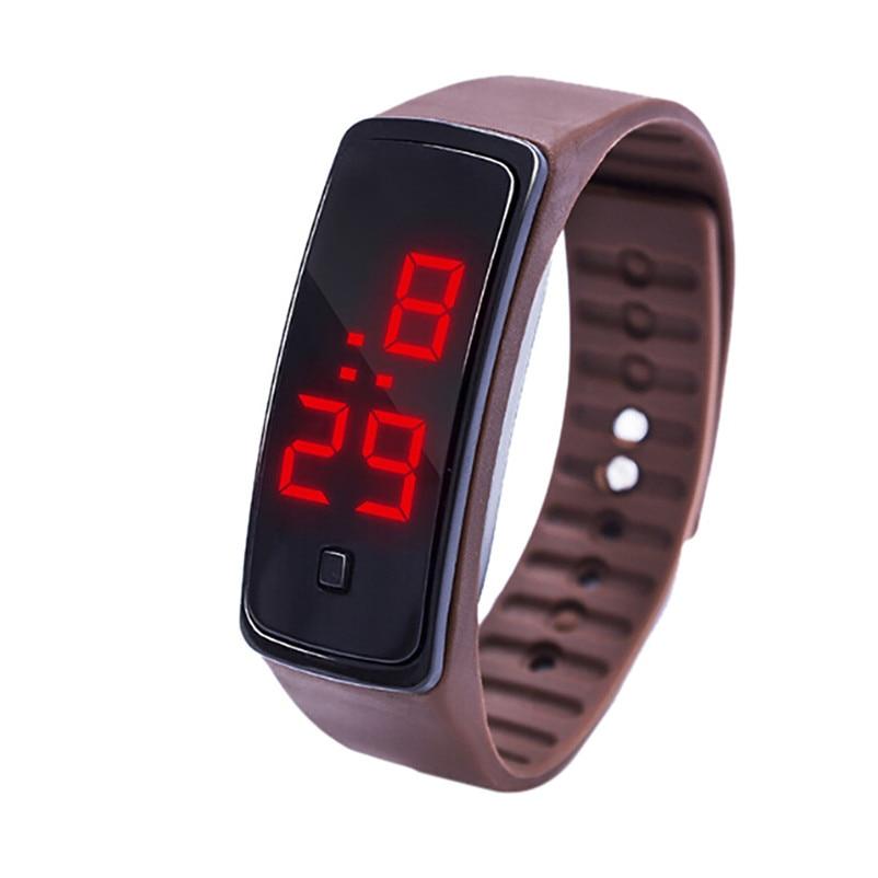 Simple Men Watch LED Digital Display Bracelet Watch Children's Students Silica Gel Sports Watch Clock relojes hombre Y09#N (4)