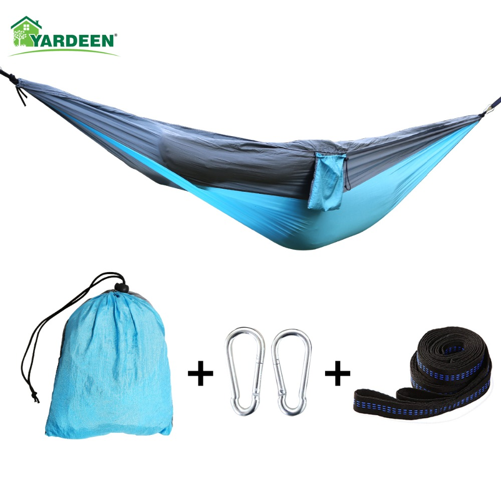 275*140cm Tree Hammocks Camping Indoor Outdoor Portable Parachute Hammocks For Hiking Survival Travel with 4 color available275*140cm Tree Hammocks Camping Indoor Outdoor Portable Parachute Hammocks For Hiking Survival Travel with 4 color available