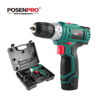 POSENPRO 10.8V Electric Screwdriver Cordless Drill Wireless Power Driver 2 Speed Rechargeable DC Lithium Ion Battery Power Tool