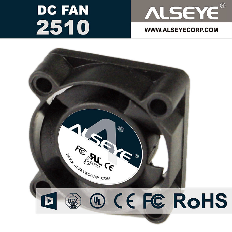 ALSEYE 2510 Mini Cooler 25mm Cooling Fan DC 12v 0.25A 10000RPM Fan for Radiator 25x25x10mm 2 pin DC fans цена и фото