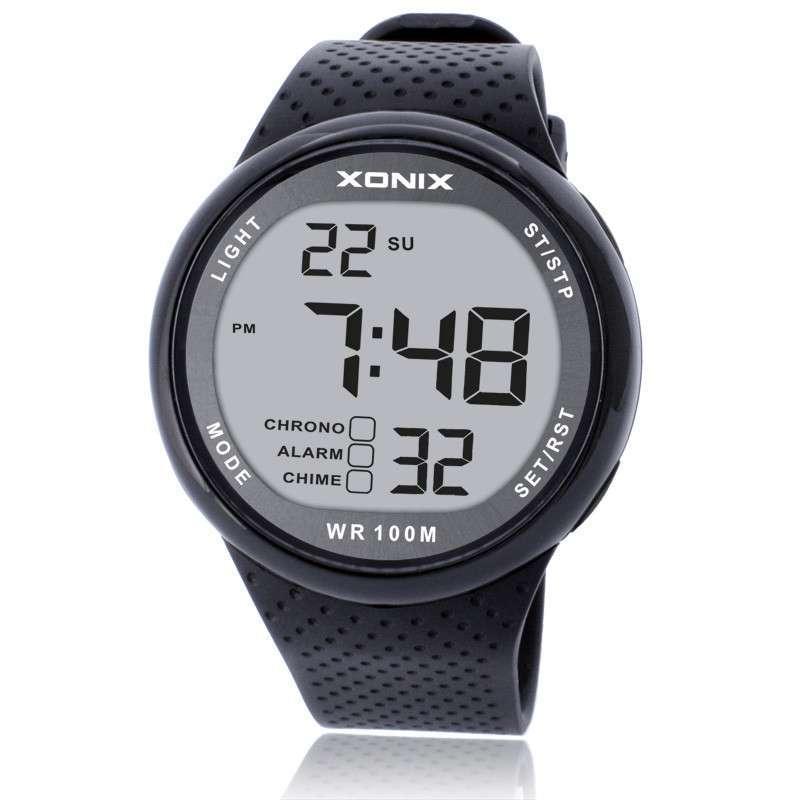 Prix pour Xonix mode hommes montres de sport étanche 100 m plaisir en plein air numérique montre de natation plongée montre-bracelet reloj hombre montre homme