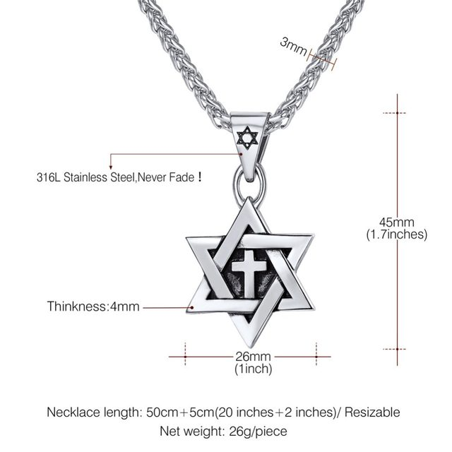 Online shop u7 hot magen star of david cross pendant necklace gold online shop u7 hot magen star of david cross pendant necklace gold color stainless steel womenmen chain israel jewish jewelry p819 aliexpress mobile aloadofball Gallery