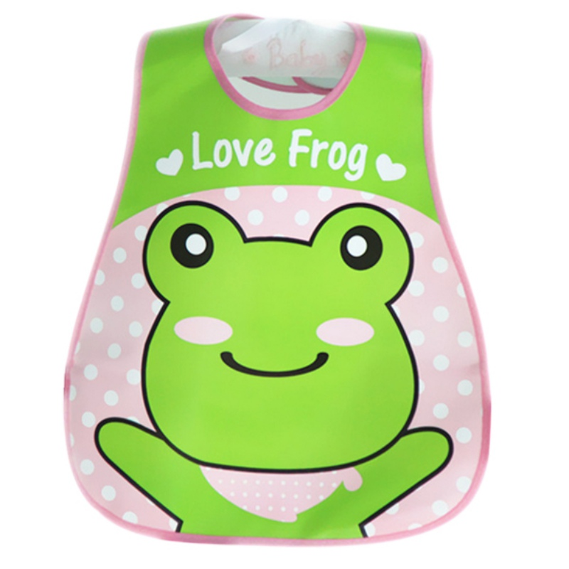 Lovely Newborn Baby Bibs Waterproof Silicone Feeding Saliva Towel Fruit Print Aprons Baby Bibs