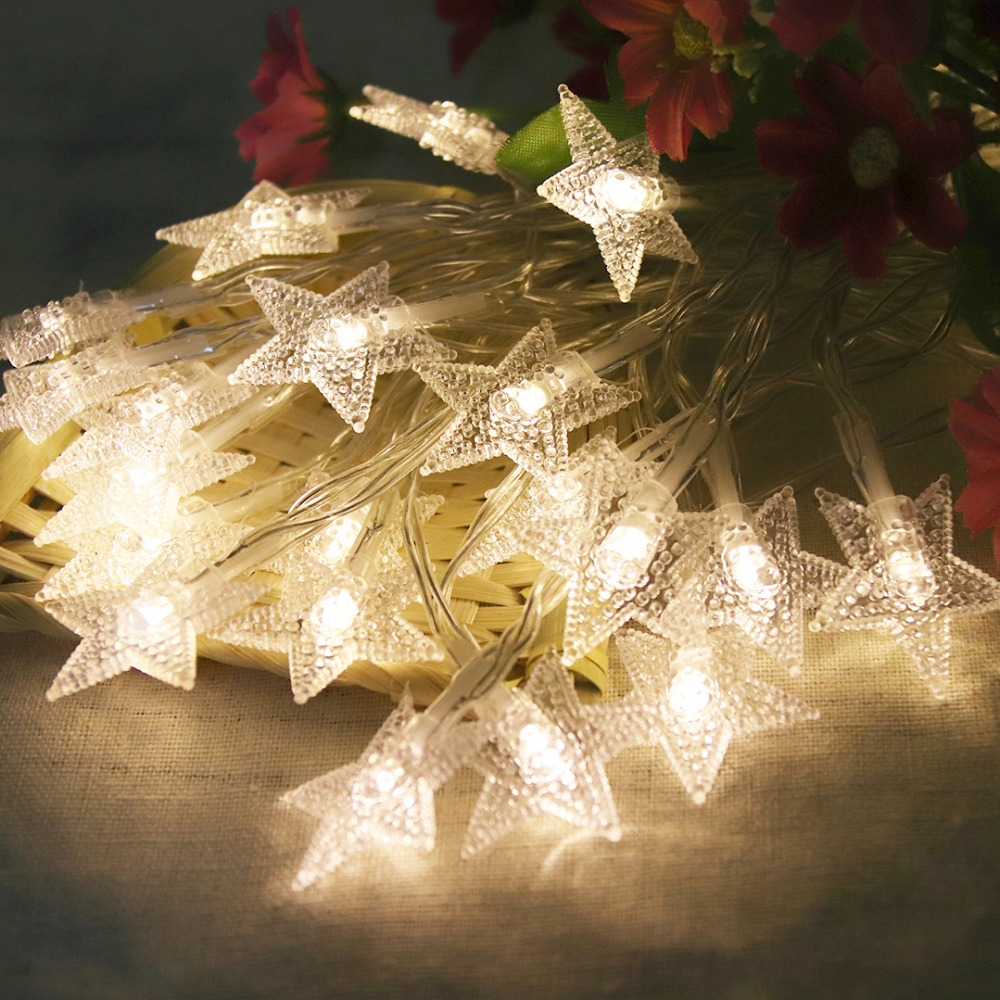 6M LED String Light Night Stars Lantern Holiday Lights 40 LED'er Til - Ferie belysning - Foto 4