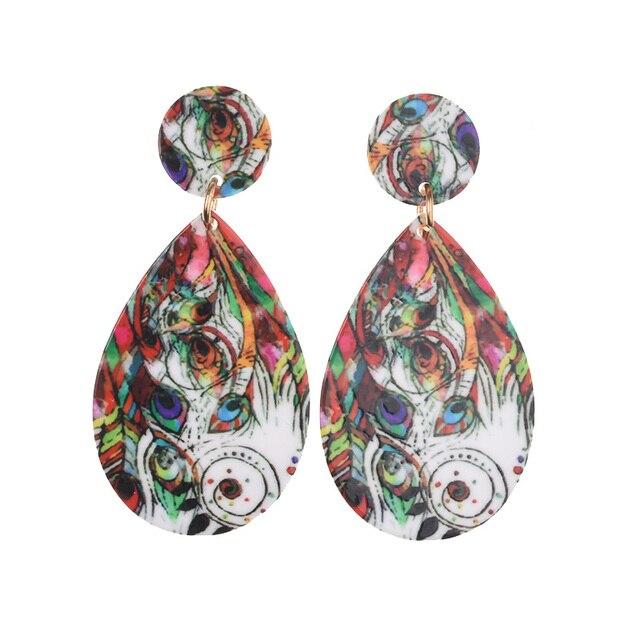 PPG & PGG acrylique coloré goutte deau forme boucles doreilles femmes bijoux de mode