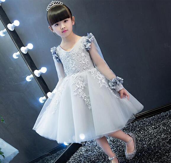Summer font b Christmas b font flower girls dress wedding sequined girl Clothing princess dresses baby