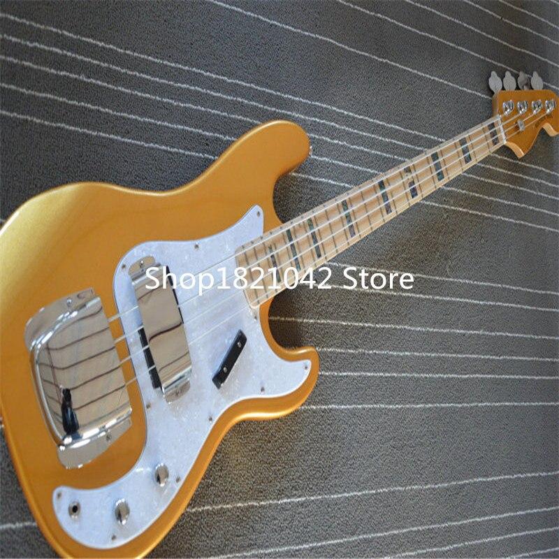 Fretless guitare basse électrique, guitare basse 4 cordes ont en magasin, guitarra eletricado immédiatement expédition