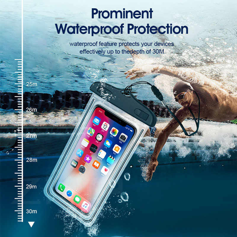 ZNP Водонепроницаемый чехол сумка, чехол для телефона 6,5 ''чехол для телефона чехол для iPhone Xs X 8, 7, 7 Plus, 6 S, 6 Plus, чехол для телефона для samsung Galaxy S9 S8