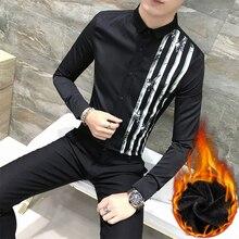 Лидер продаж брендовая зимняя мужская повседневная высокого качества Толстые со кисти пиджаки мужской тонкий Корея Стиль теплоту рубашка