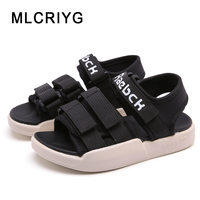 2019 New Summer Kids Beach Sandals Children Pu Leather Sandals Baby Girls Casual Shoes Boys White Sandals Fashion Brand Flats