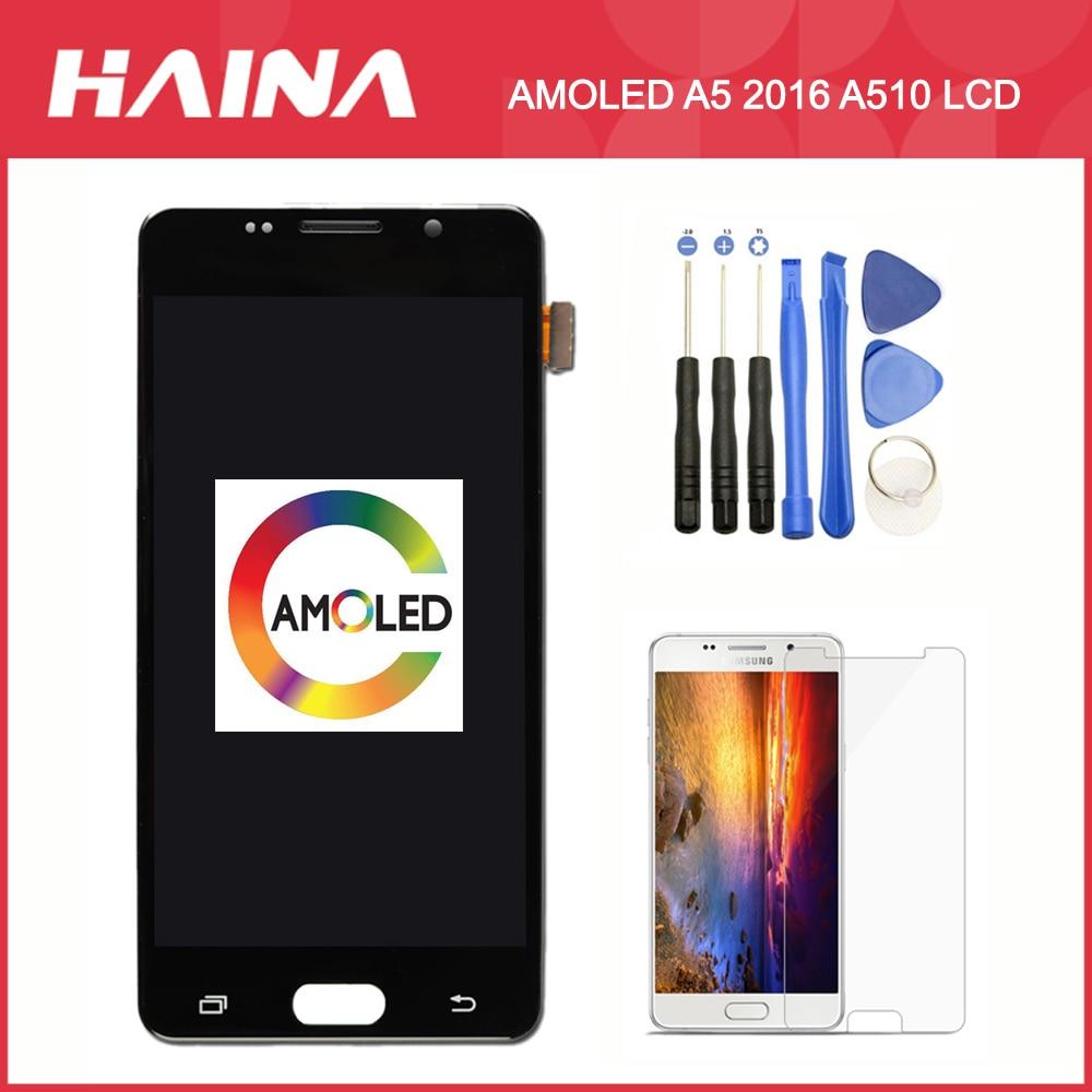AMOLED A510 affichage pour Samsung Galaxy A5 2016 LCD A510 affichage A510F A510M écran tactile numériseur A510 LCD TFT