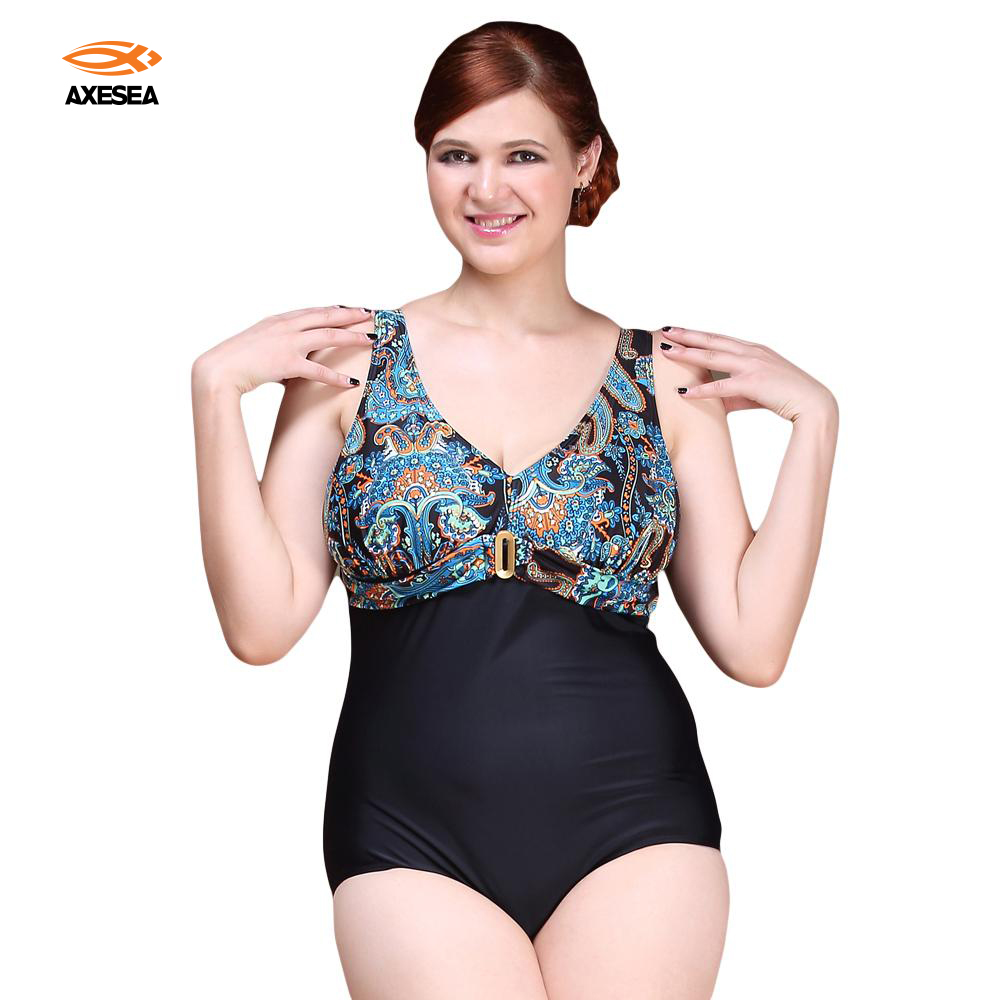Sexy One Piece Swimsuit 2017 Vintage Plus Size Swimwear Women Retro Print Plower Beach Bodysuit Look Slim Halter Bathing Suit women one piece triangle swimsuit cover up sexy v neck strappy swimwear dot dress pleated skirt large size bathing suit 2017